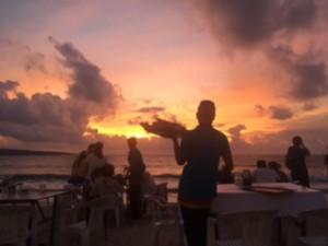 Visst var det en vacker solnedgång