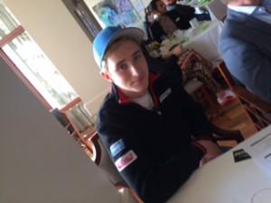 Joel Eriksson, motorsport, en av stipendiaterna. Mitt bästa tips! Håll ögonen på honom!